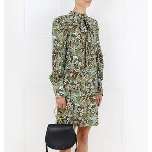 Chloe Butterfly Garden Paisley Tie-Neck Dress